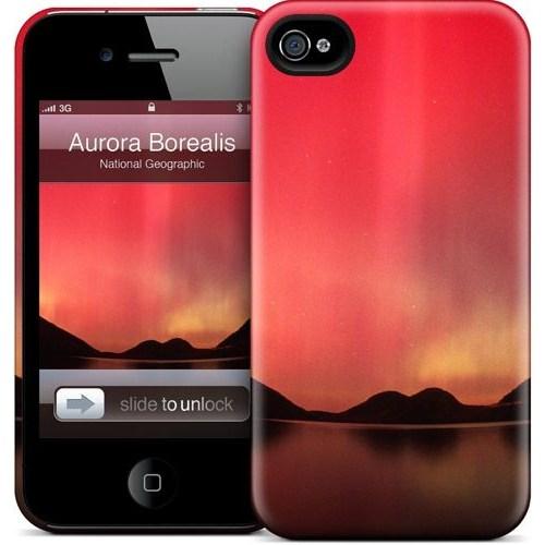 Gelaskins Apple iPhone 4 Hardcase Kılıf Aurora Borealis Over