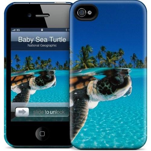 Gelaskins Apple iPhone 4 Hardcase Kılıf Baby Green Sea