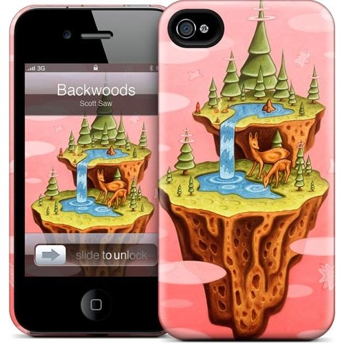 Gelaskins Apple iPhone 4 Hardcase Kılıf Backwoods