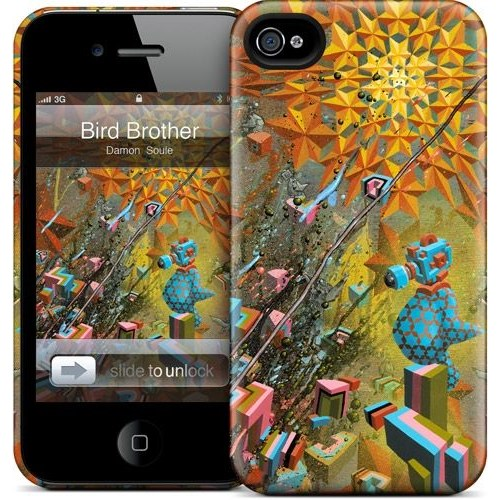 Gelaskins Apple iPhone 4 Hardcase Kılıf Bird Brother