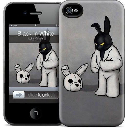 Gelaskins Apple iPhone 4 Hardcase Kılıf Black In White