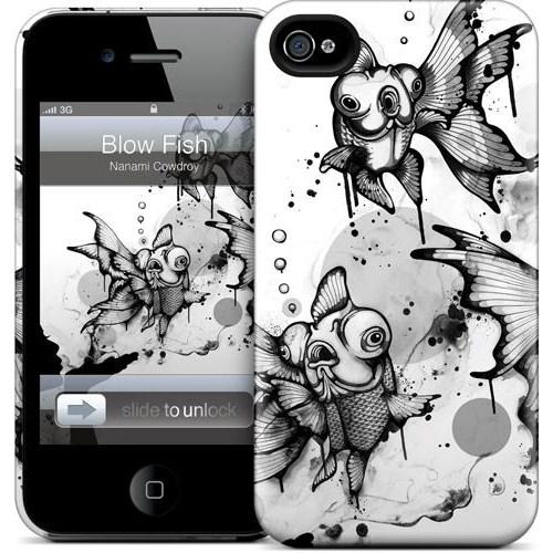 Gelaskins Apple iPhone 4 Hardcase Kılıf Blow Fish