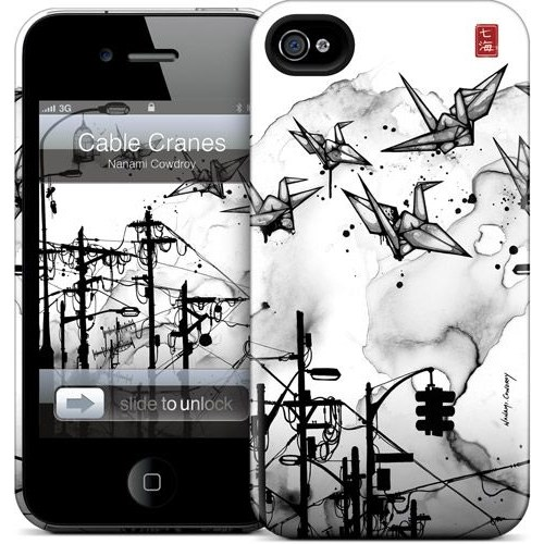 Gelaskins Apple iPhone 4 Hardcase Kılıf Cable Cranes