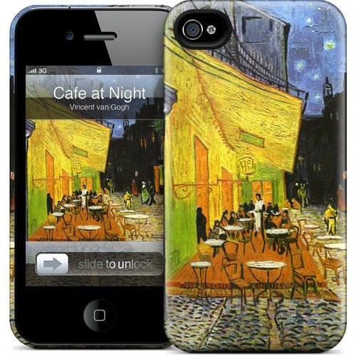 Gelaskins Apple iPhone 4 Hardcase Kılıf Cafe At Night