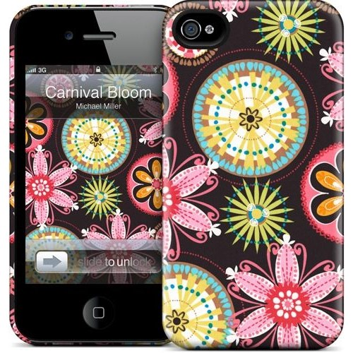 Gelaskins Apple iPhone 4 Hardcase Kılıf Carnival Bloom