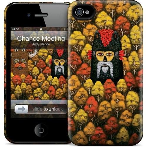 Gelaskins Apple iPhone 4 Hardcase Kılıf Chance Meeting Forest