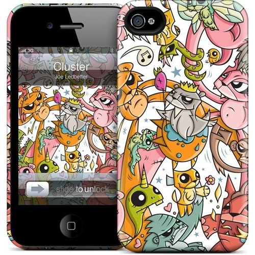 Gelaskins Apple iPhone 4 Hardcase Kılıf Cluster