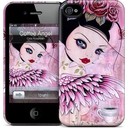 Gelaskins Apple iPhone 4 Hardcase Kılıf Coffee Angel