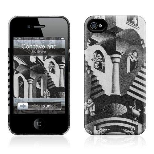 Gelaskins Apple iPhone 4 Hardcase Kılıf Concave And Convex