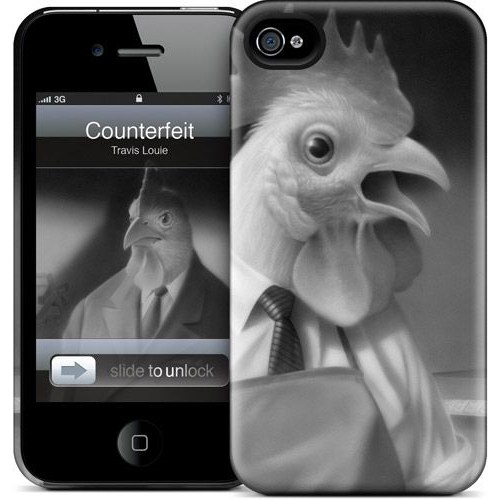 Gelaskins Apple iPhone 4 Hardcase Kılıf Counterfeit Cluckers