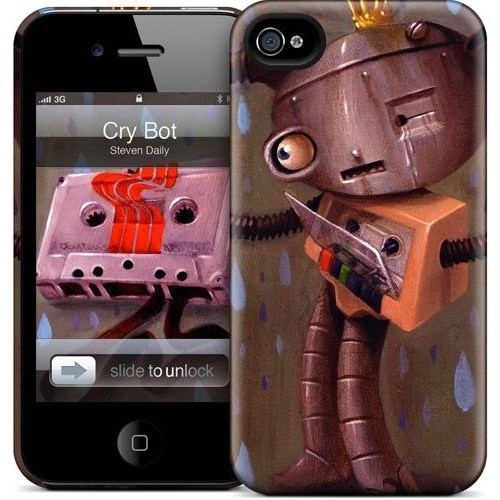 Gelaskins Apple iPhone 4 Hardcase Kılıf Cry Bot