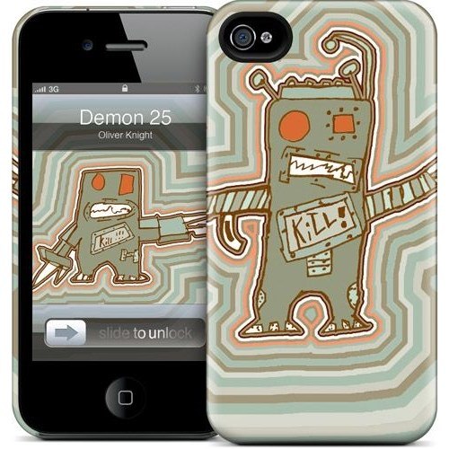 Gelaskins Apple iPhone 4 Hardcase Kılıf Demon 25