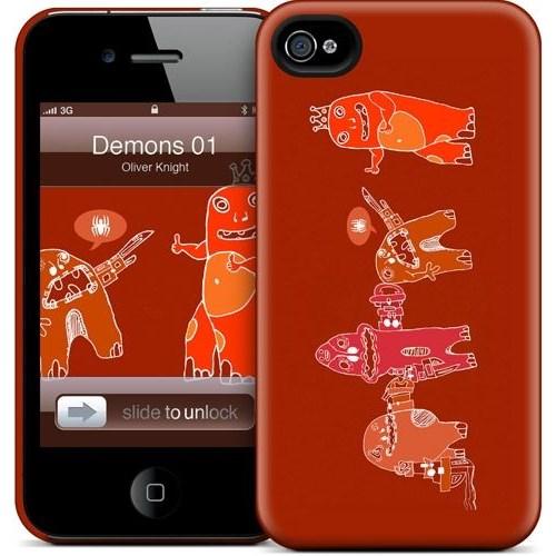 Gelaskins Apple iPhone 4 Hardcase Kılıf Demons 01