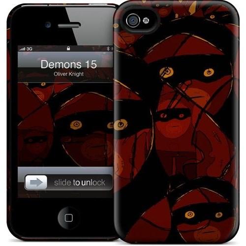 Gelaskins Apple iPhone 4 Hardcase Kılıf Demons 15