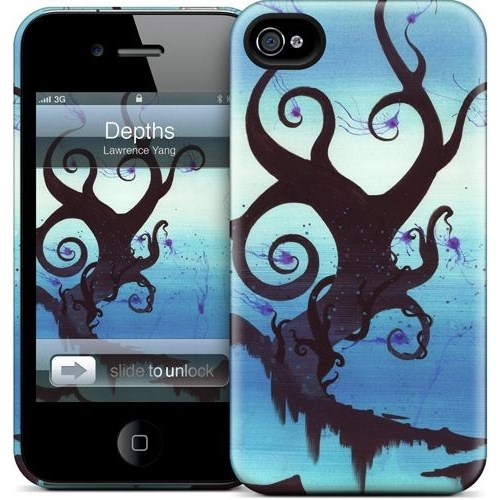 Gelaskins Apple iPhone 4 Hardcase Kılıf Depths