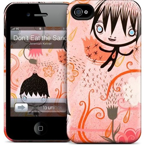 Gelaskins Apple iPhone 4 Hardcase Kılıf Don't Eat The Sand