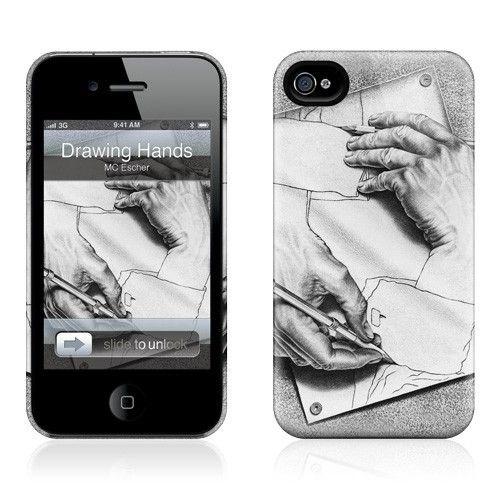 Gelaskins Apple iPhone 4 Hardcase Kılıf Drawing Hands
