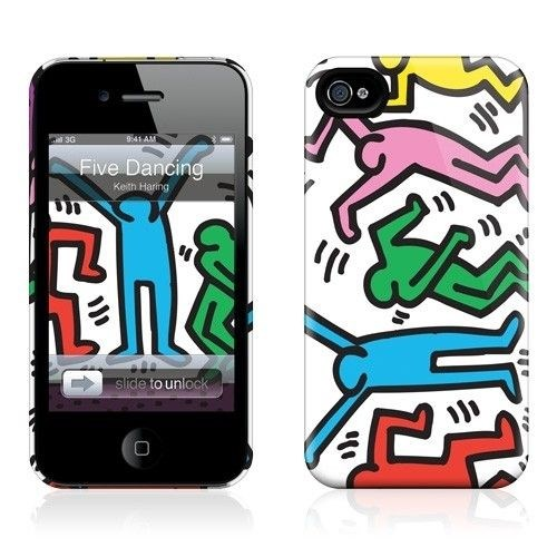 Gelaskins Apple iPhone 4 Hardcase Kılıf Five Dancing Figures