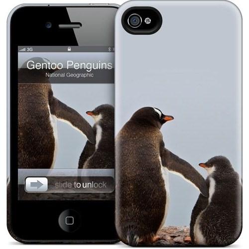 Gelaskins Apple iPhone 4 Hardcase Kılıf Gentoo Penguins