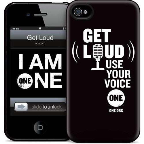 Gelaskins Apple iPhone 4 Hardcase Kılıf Get Loud (Black)
