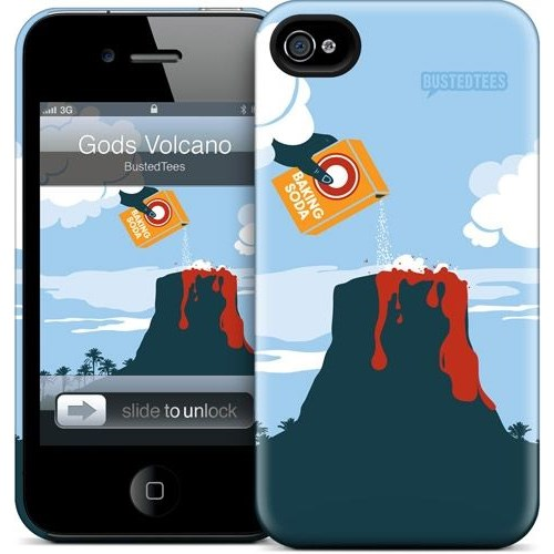 Gelaskins Apple iPhone 4 Hardcase Kılıf Gods Volcano