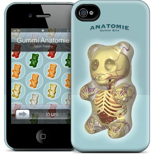 Gelaskins Apple iPhone 4 Hardcase Kılıf Gummi Anatomie