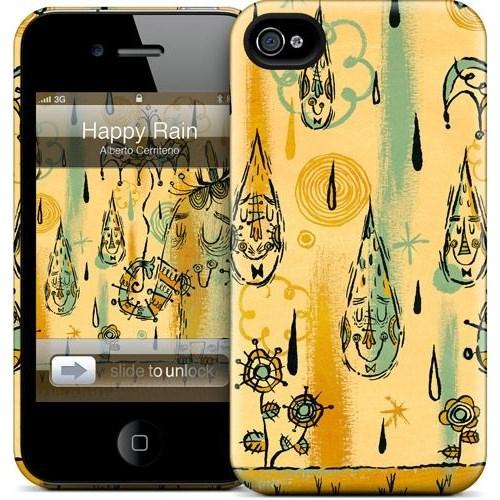 Gelaskins Apple iPhone 4 Hardcase Kılıf Happy Rain