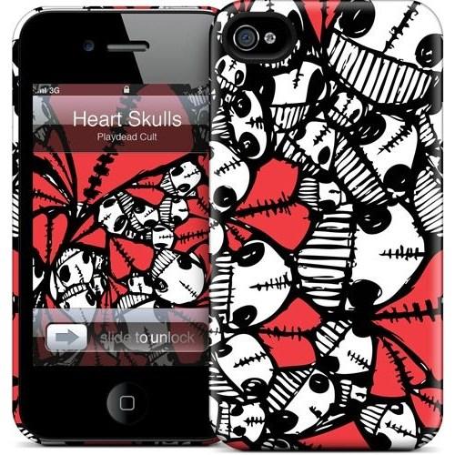 Gelaskins Apple iPhone 4 Hardcase Kılıf Heart Skulls