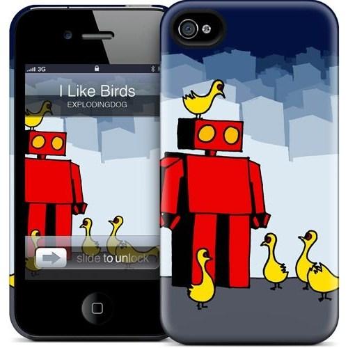 Gelaskins Apple iPhone 4 Hardcase Kılıf I Like Birds