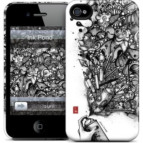 Gelaskins Apple iPhone 4 Hardcase Kılıf Ink Pond