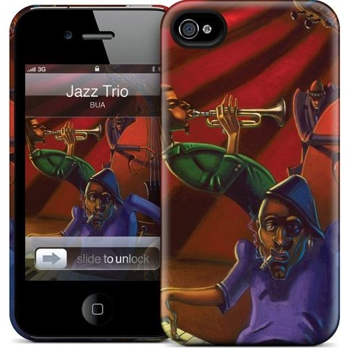 Gelaskins Apple iPhone 4 Hardcase Kılıf Jazz Trio