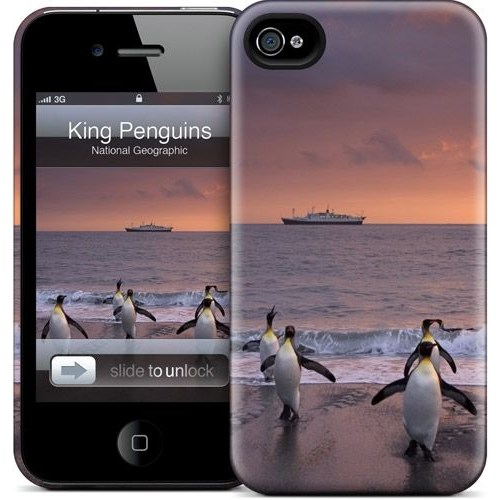 Gelaskins Apple iPhone 4 Hardcase Kılıf King Penguins