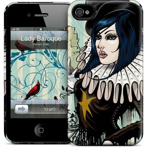 Gelaskins Apple iPhone 4 Hardcase Kılıf Lady Baroque