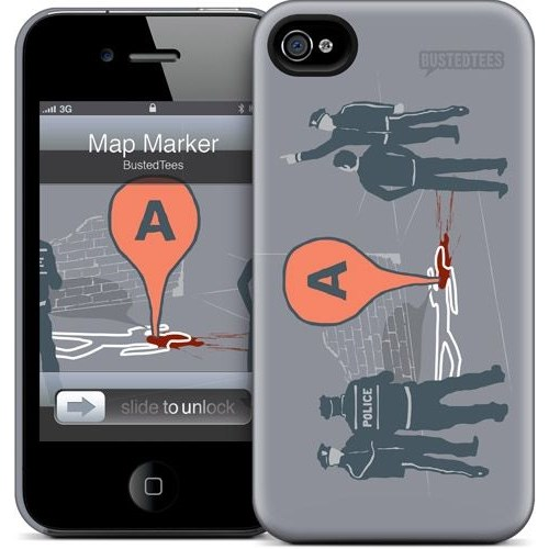 Gelaskins Apple iPhone 4 Hardcase Kılıf Map Marker