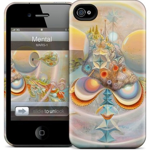 Gelaskins Apple iPhone 4 Hardcase Kılıf Mental