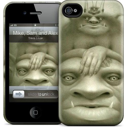 Gelaskins Apple iPhone 4 Hardcase Kılıf Mike Sam And Alex
