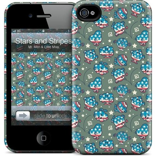 Gelaskins Apple iPhone 4 Hardcase Kılıf Mmlm Stars And Stripe