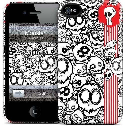 Gelaskins Apple iPhone 4 Hardcase Kılıf Monster