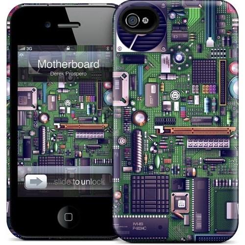 Gelaskins Apple iPhone 4 Hardcase Kılıf Motherboard
