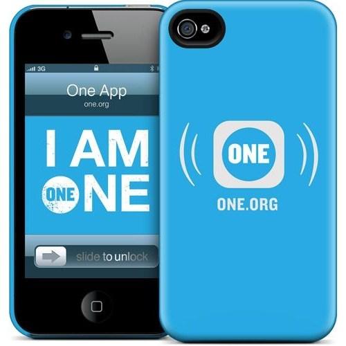 Gelaskins Apple iPhone 4 Hardcase Kılıf One App (Blue)