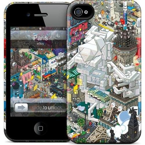 Gelaskins Apple iPhone 4 Hardcase Kılıf Paris