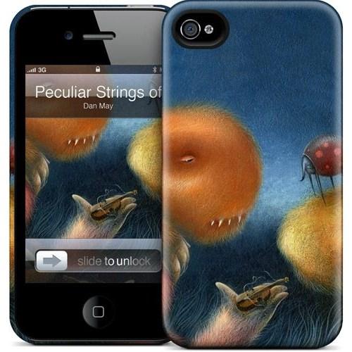 Gelaskins Apple iPhone 4 Hardcase Kılıf Peculiar Strings Of S