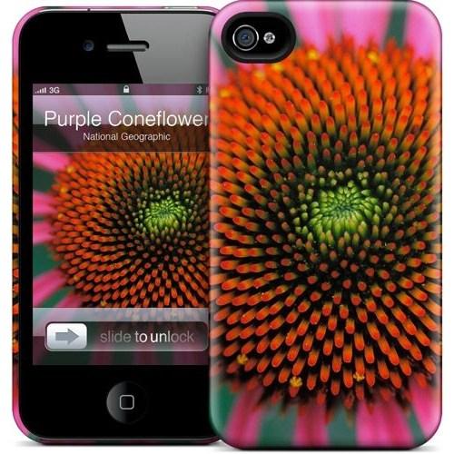 Gelaskins Apple iPhone 4 Hardcase Kılıf Purple Coneflower