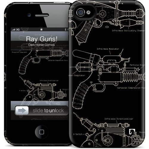 Gelaskins Apple iPhone 4 Hardcase Kılıf Ray Guns