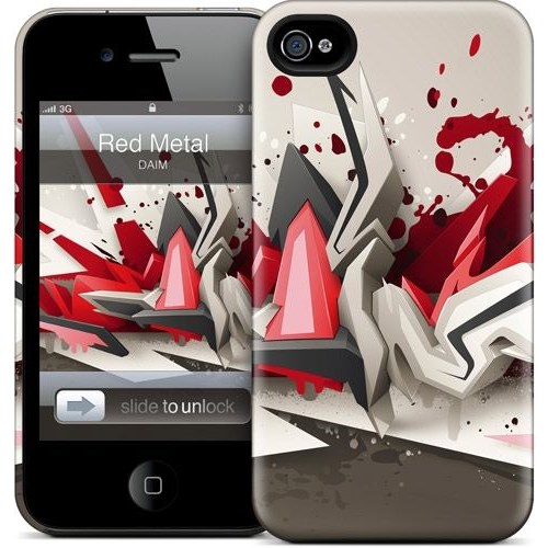 Gelaskins Apple iPhone 4 Hardcase Kılıf Red Metal
