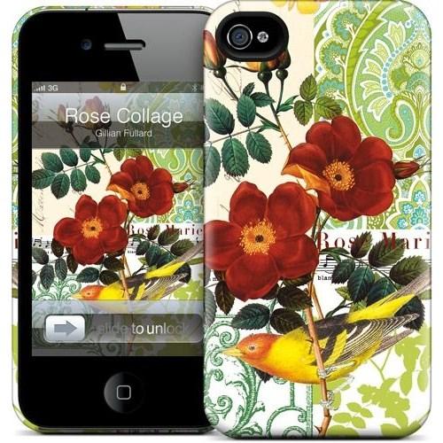 Gelaskins Apple iPhone 4 Hardcase Kılıf Rose Collage
