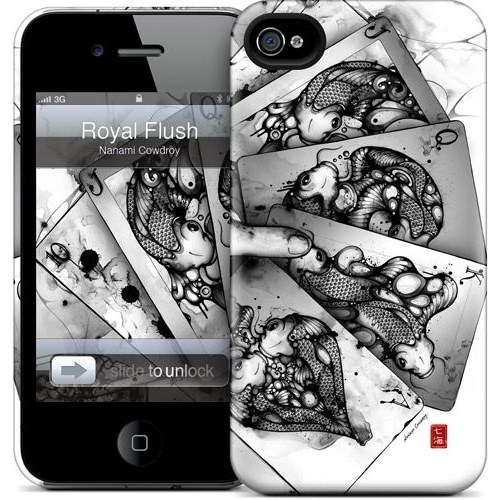 Gelaskins Apple iPhone 4 Hardcase Kılıf Royal Flush