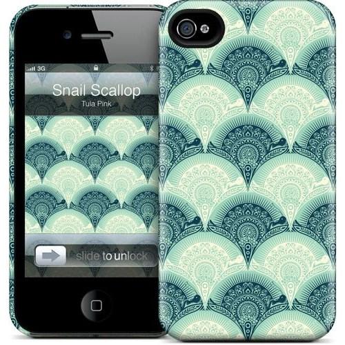 Gelaskins Apple iPhone 4 Hardcase Kılıf Snail Scallop