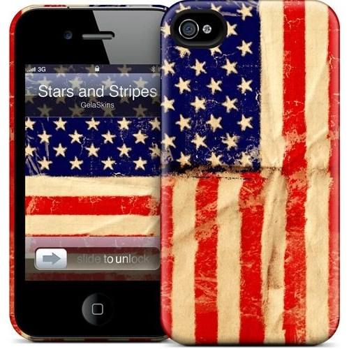 Gelaskins Apple iPhone 4 Hardcase Kılıf Stars And Stripes