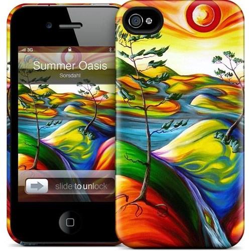 Gelaskins Apple iPhone 4 Hardcase Kılıf Summer Oasis
